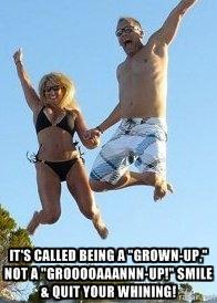 beach jump groan up